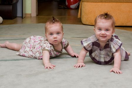 twin girls photo