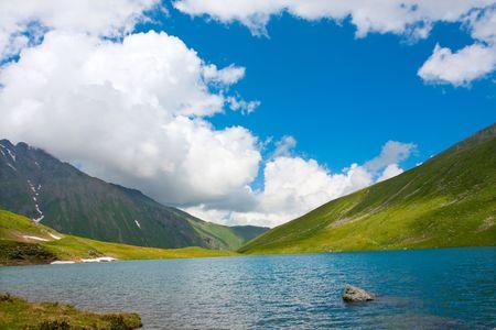 Lake in mountain photo