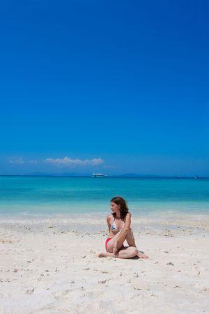 yoga on the beach Stock Photo - 6678283