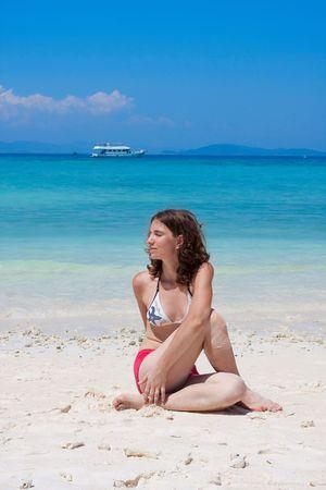 yoga on the beach Stock Photo - 6678221