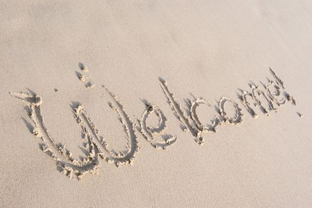 Signs on the sand Stock Photo - 6826276