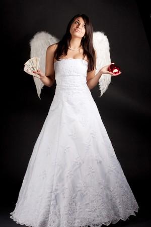 angel alone: Woman angel Stock Photo