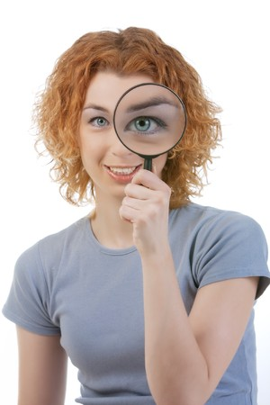 Eye and magnifying glass Stock Photo - 6904966