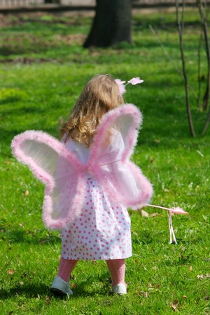 young girl with wings photo