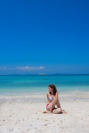 yoga on the beach Stock Photo - 7375805