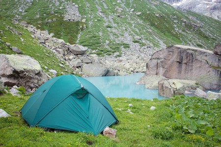 Hiking in the Caucasus mountains