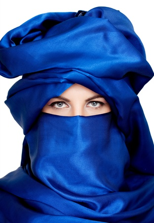 middle eastern woman with veil photo