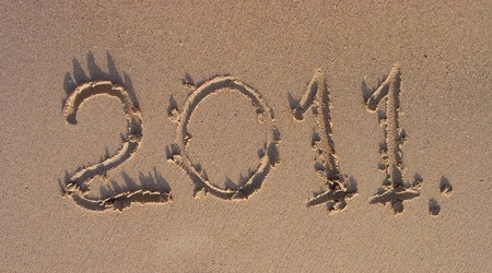 Signs on sand photo