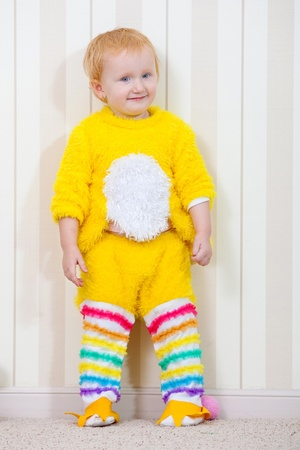 Child in costume of chicken Stock Photo - 9134969