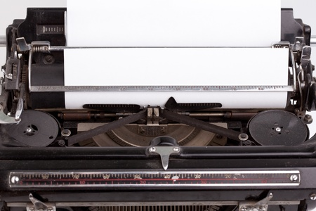 Sheet of paper inserted into the vintage typewriter Stock Photo - 9858948
