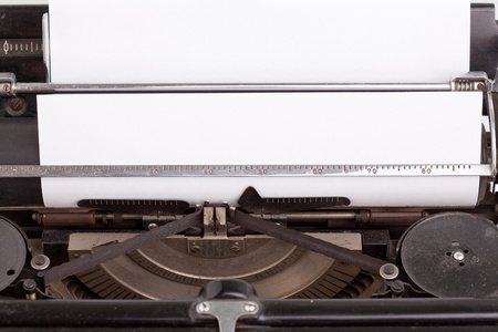 Sheet of paper inserted into the vintage typewriter Stock Photo - 9866731