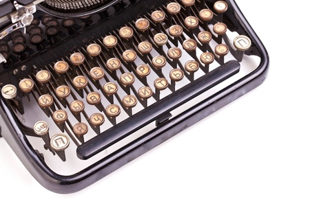 Keyboard of the vintage typewriter photo