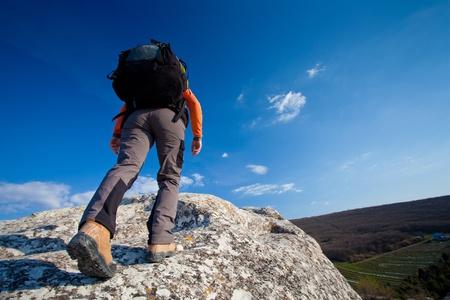 Senderismo en las montañas de Crimea