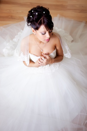 Beautiful bride on heir wedding day  photo