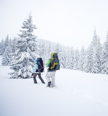 hiker in winter mountains Stock Photo - 13459561