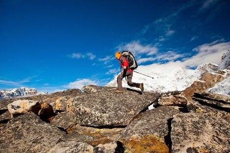Hiking in Himalaya mountains Stock Photo - 13461222