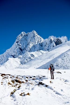 Hiking in Himalaya mountains Stock Photo - 13460114