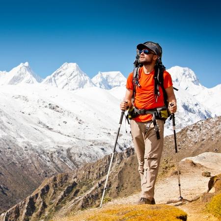 Hiking in Himalaya mountains Stock Photo - 13460048