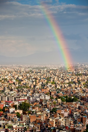 kathmandu: Kathmandu city after rain Stock Photo