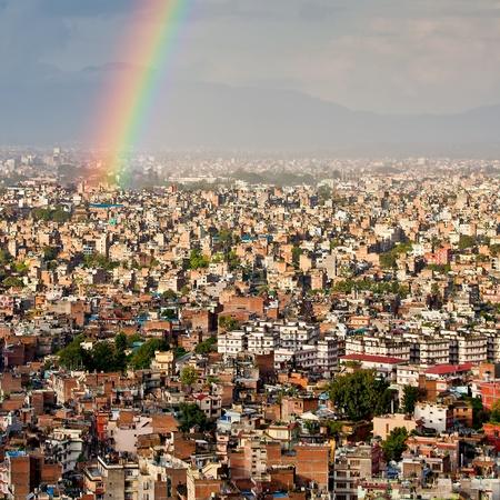 Kathmandu city after rain photo