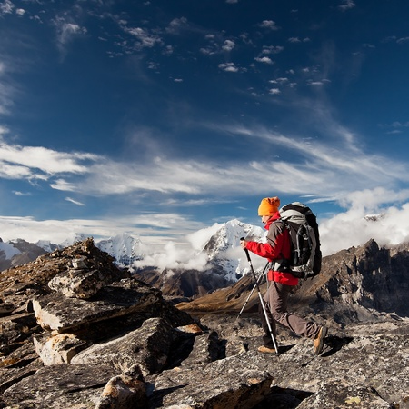 Hiking in Himalaya mountains Stock Photo - 13460013