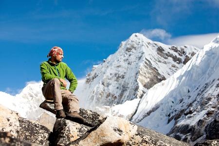 Wandelen in de Himalaya gebergte