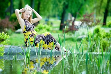 Pregnant female in park Stock Photo - 13578123