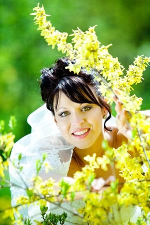 heir: Beautiful bride on heir wedding day