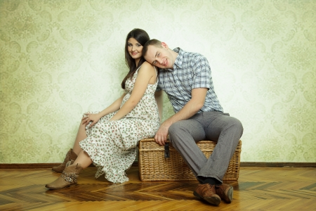 young pregnant couple Stock Photo - 15051281