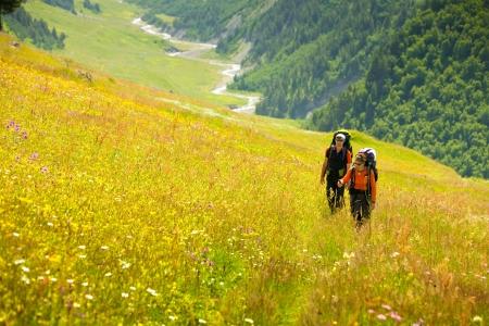 caucasus: Trekking in Caucasus mountains Georgia, Svaneti region