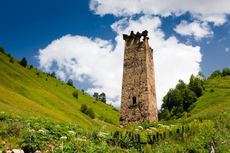 svan: Tradizionale SVAN torre in Svaneti regione, Georgia.