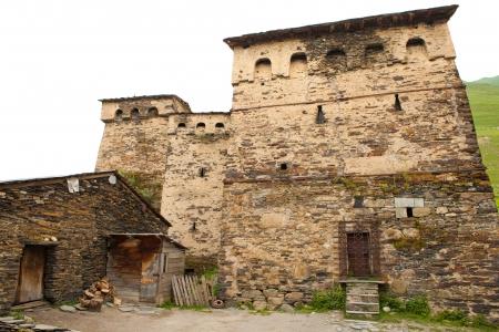 svan: Tradizionale casa SVAN in Alta Svaneti regione, Georgia. Archivio Fotografico
