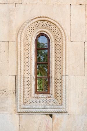 kutaisi: Window of the aged church in Kutaisi, Georgia Stock Photo