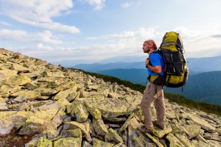 carpathian: Hiking in Carpathian mountains