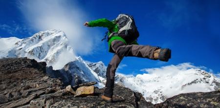 Wandern im Khumbu walley im Himalaya Berge
