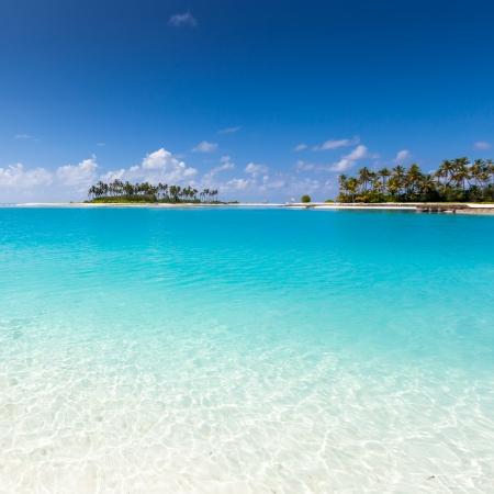 Malerischer Blick auf den Ozean in der Nähe von Malediven