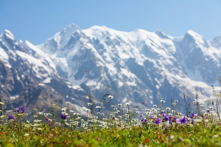 Beautiful landscapes with high mountains of Georgia photo