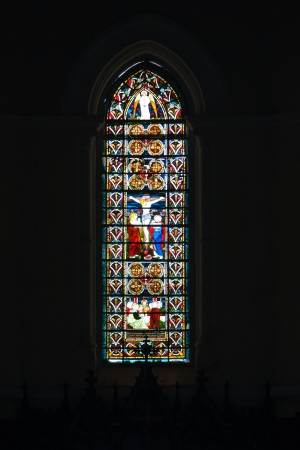 Stained window in catolic temple in Galle fort, Sri Lanka Stock Photo - 22451617