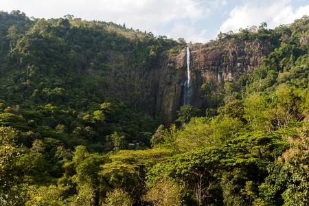 Bambarakanda Ella, the tallest waterfall in Sri Lanka Stock Photo