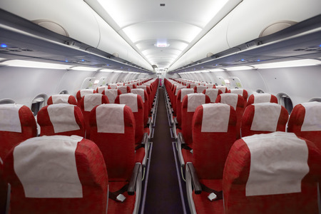 Interior of the passenger airplane