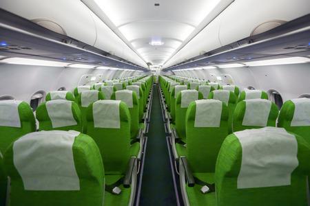 Interior of the passenger airplane