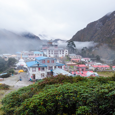 Tengboche monastery in Khumbu vallley, Nepal photo
