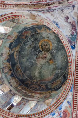 gelati: Fresco on ceiling of Gelati monastery near Kutaisi in Georgia