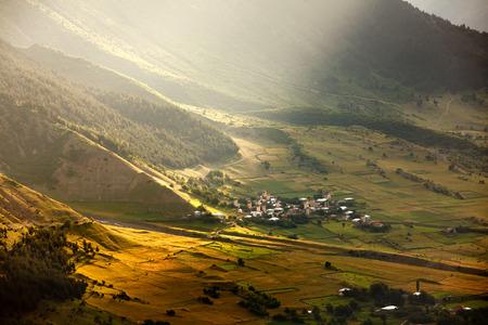svaneti: Mountainous village of Svaneti region in Georgia