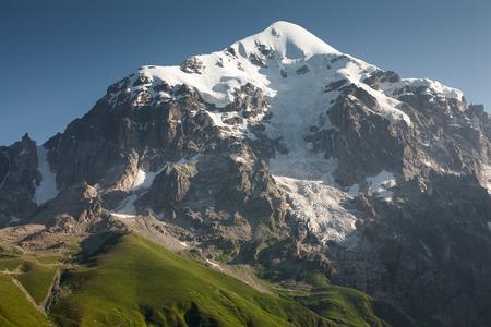 svaneti: Mountanious landscape of Zemo (upper) Svaneti Stock Photo