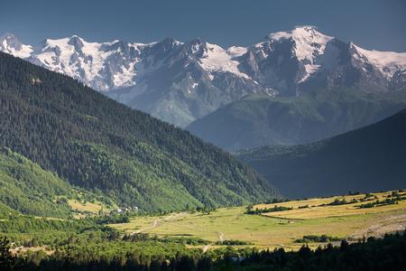 Mountanious landscape of Zemo (upper) Svaneti photo