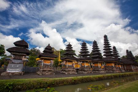 Taman Ayun Temple (Bali, Indonesia) on a beautiful sunny day photo