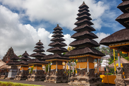 indonesia culture: Taman Ayun Temple (Bali, Indonesia) on a beautiful sunny day Stock Photo