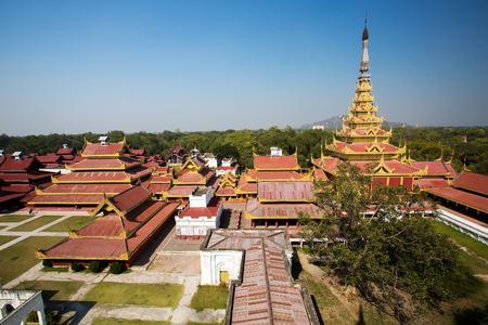 The royal palace in Mandalay - Myanmar Editorial