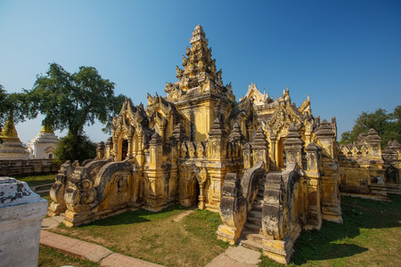 maha: Maha Aung Mye Bon Zan Monastery in Inwa ancient city,Mandalay State,Myanmar